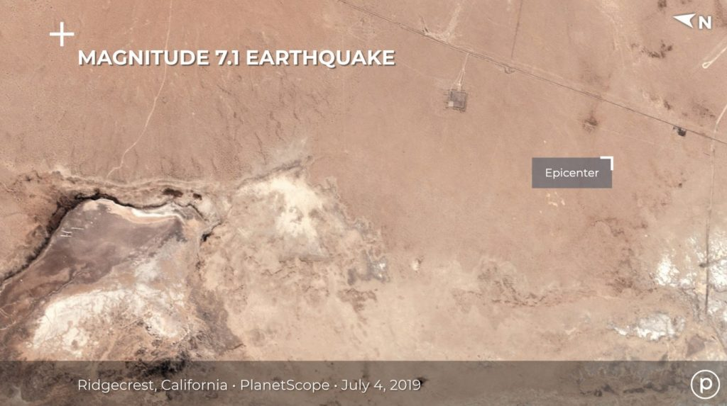 Ridgecrest California Earthquake Satellite View Before