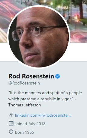 Rod Rosenstein Twitter Profile