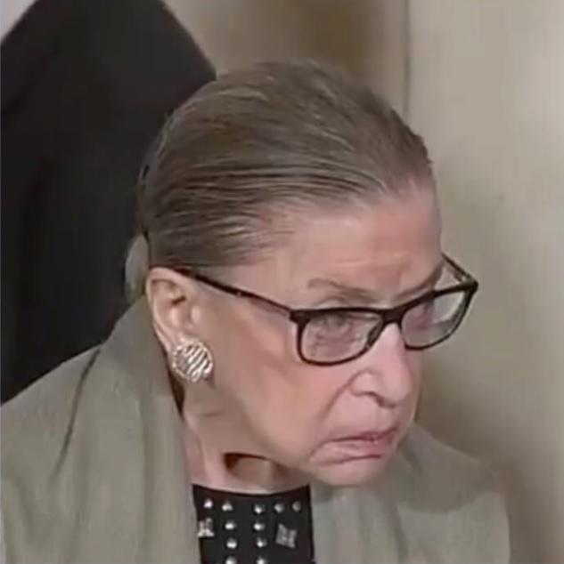 Ruth Bader Ginsburg Side Profile