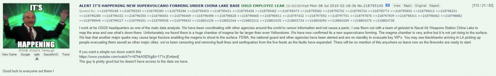 USGS Whistleblower China Lake Supervolcano