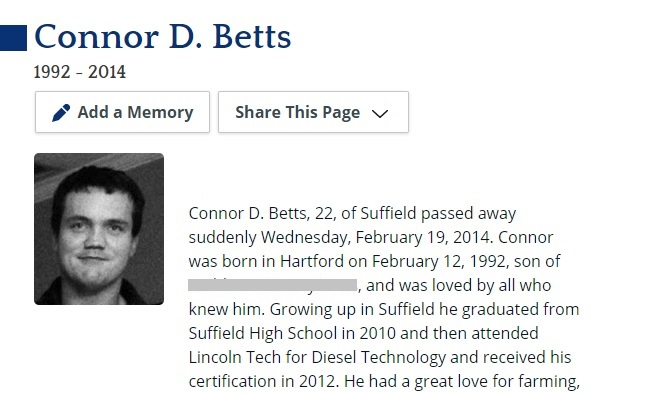 Connor Betts Obituary Page 2