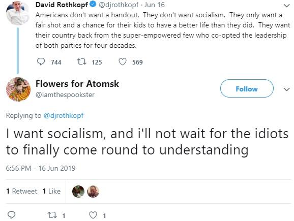 Socialism Tweet