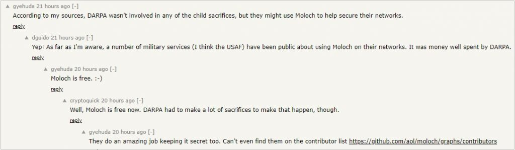 AOL Moloch Hacker News Ycombinator 1
