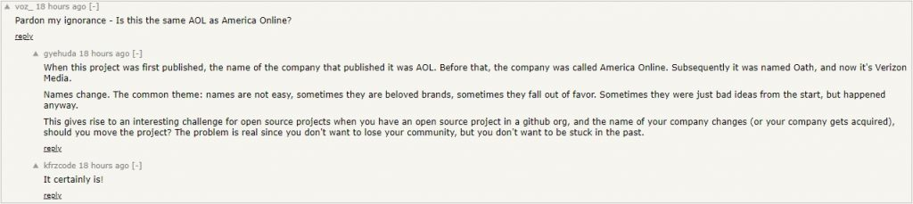 AOL Moloch Hacker News Ycombinator 5