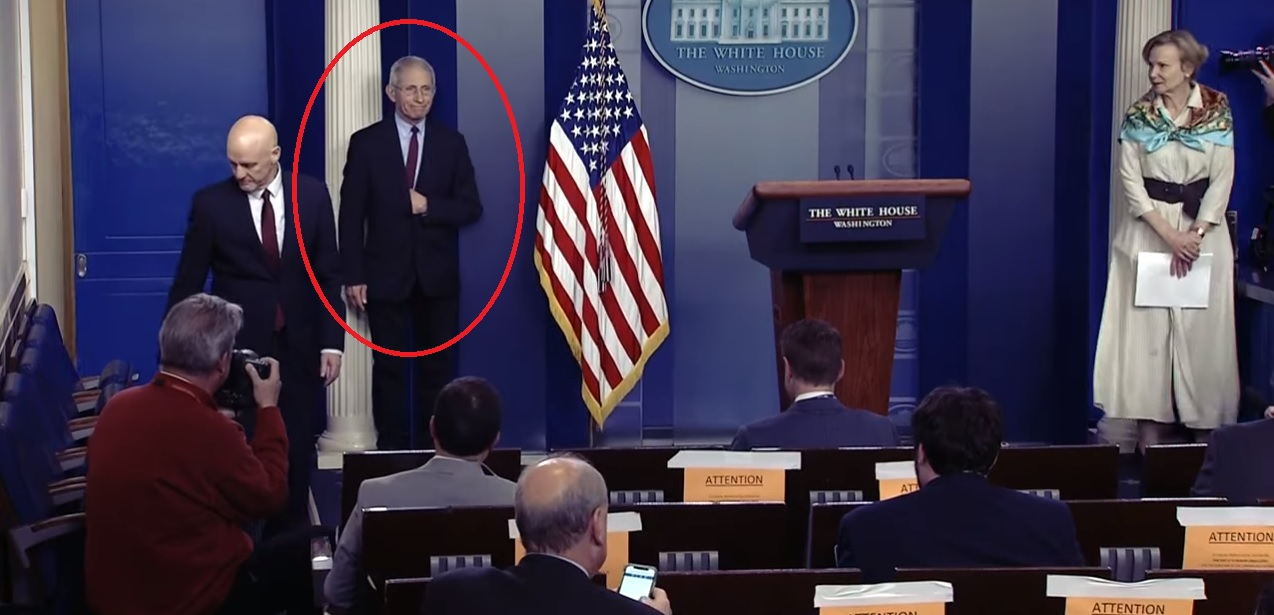Anthony Fauci Freemason Hidden Hand Sign White House Press Briefing