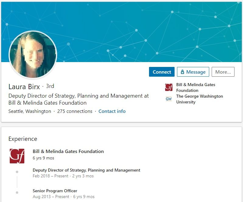 Laura Birx Deputy Director Bill & Melinda Gates Foundation LinkedIn