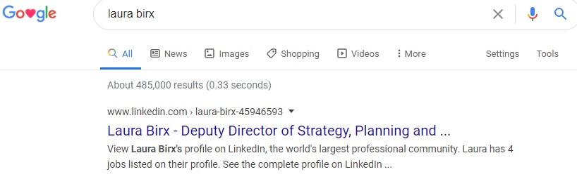 Laura Birx Google Search Bill & Melinda Gates Foundation LinkedIn Profile