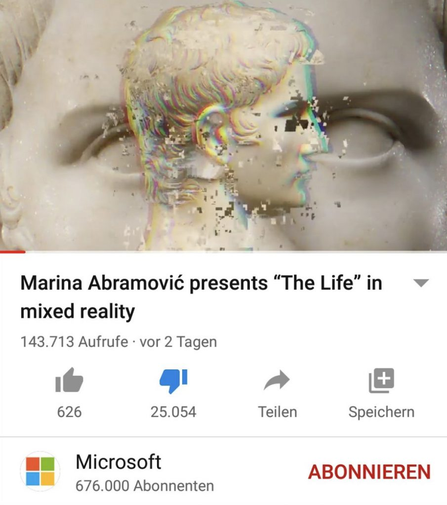 Microsoft Removes Marina Abramovic Mixed Reality Advertisement Backlash