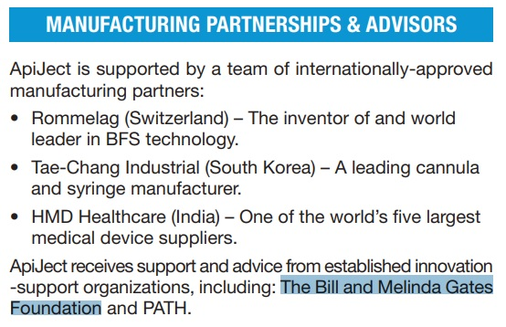 ApiJect Support And Advice From The Bill And Melinda Gates Foundation 3