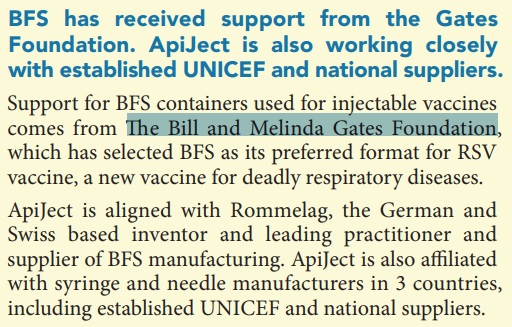 Bill And Melinda Gates Foundation Injectable Vaccines BFS Containers 3