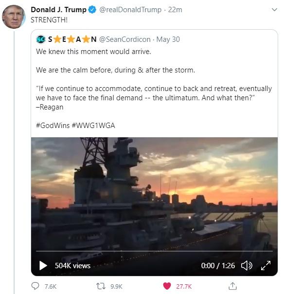 Donald Trump Retweet Sean Cordicon