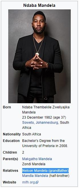Ndaba Mandela Grandson Of Nelson Mandela UN NWO