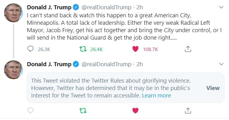 Twitter Censors President Trump's Tweet