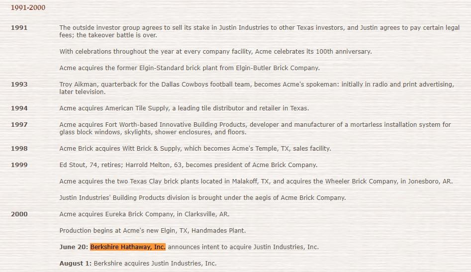Berkshire Hathaway, Inc Acquisition