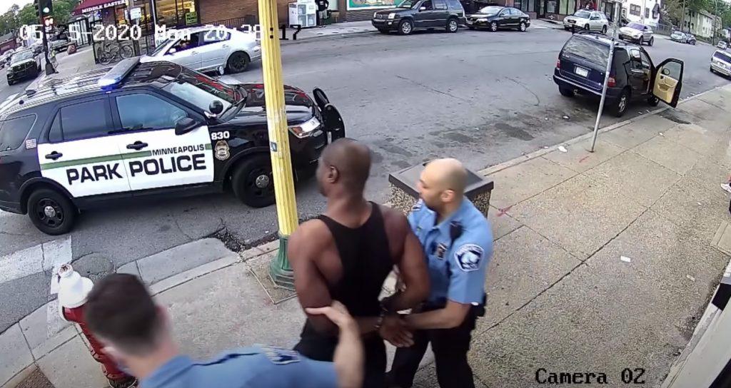 George Floyd Handcuffed Escorted To Car