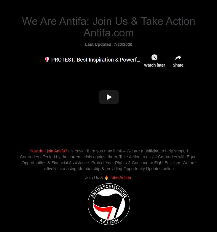 Antifa.com Archive Screenshot