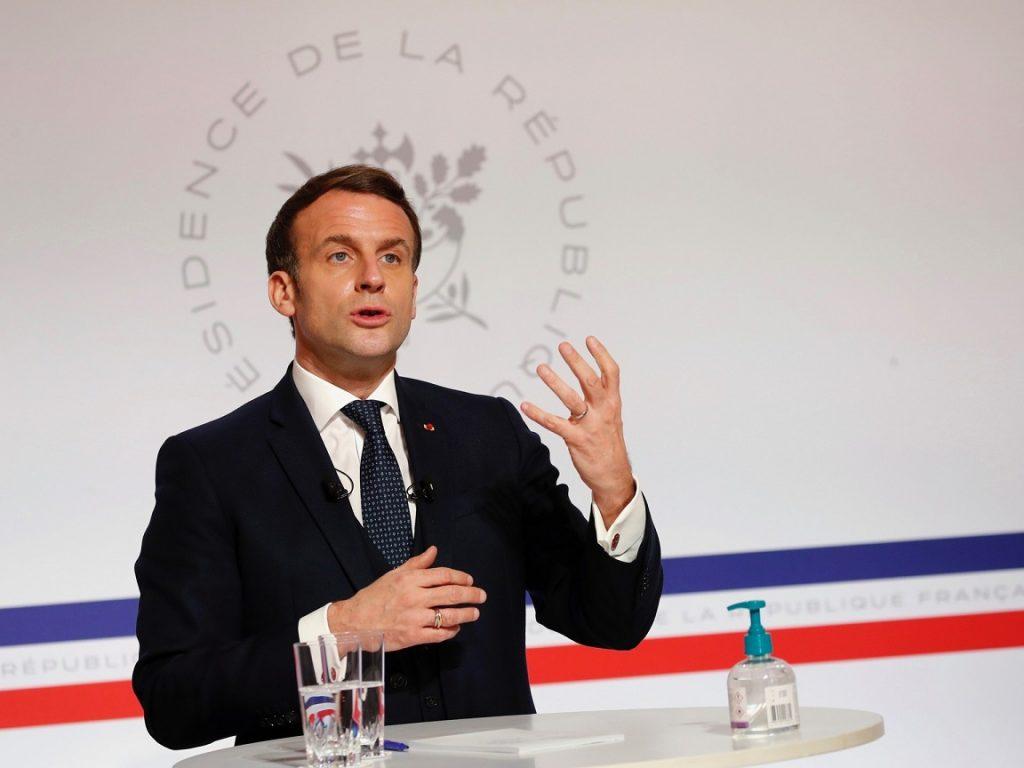 Emmanuel Macron Davos 2021