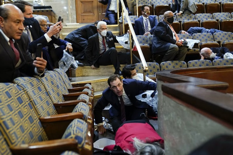 Lawmakers Sheltering After Protesters Storm Capitol