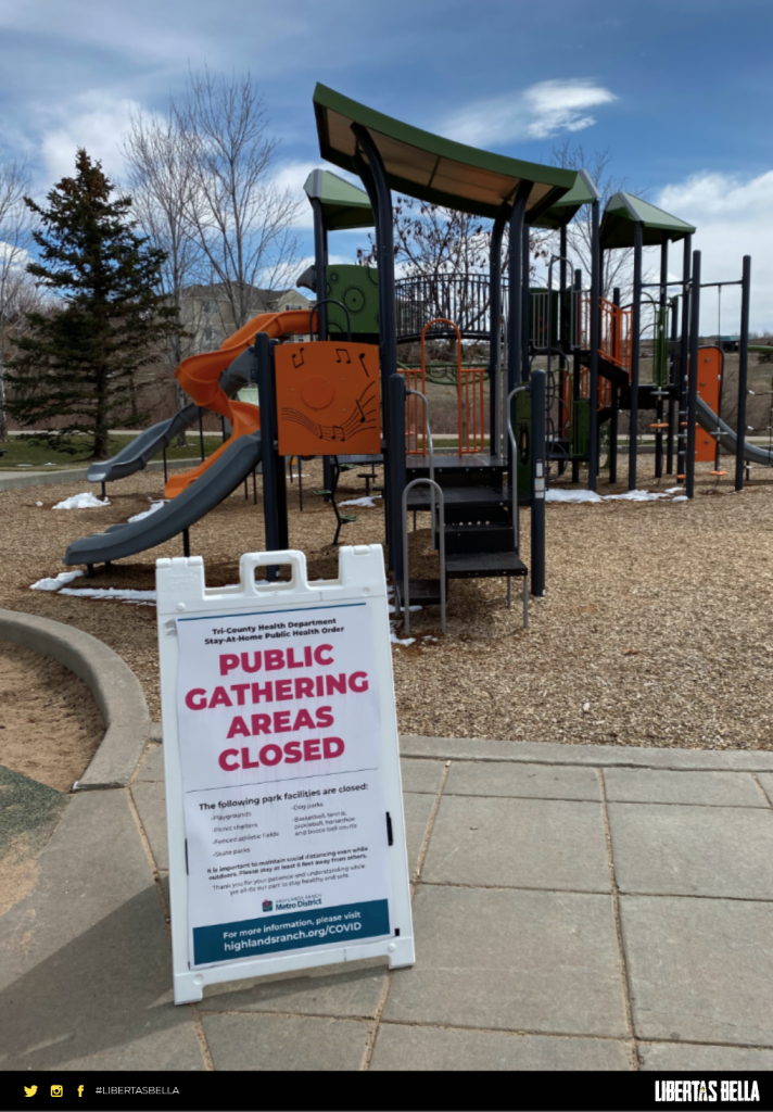 Public Gathering Areas Closed Covid-19 Lockdown