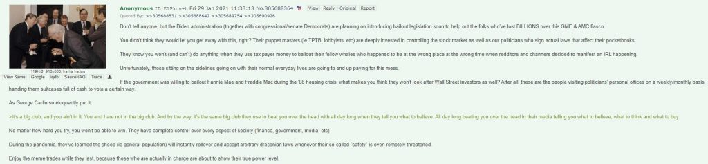 Wall Street Insider Biden Democrats Bailout For Investors Who Lost GME AMC