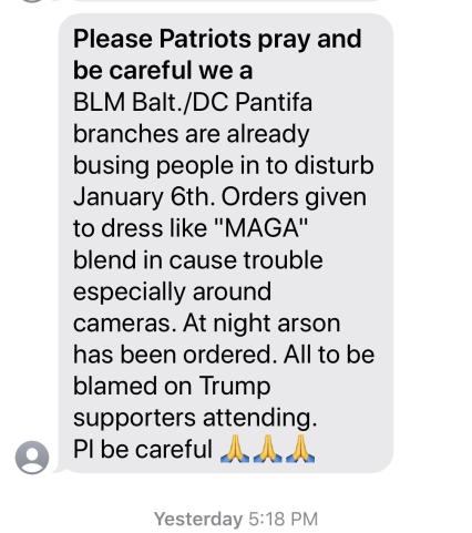 Warning BLM Antifa To Infiltrate MAGA Protests In Washington DC