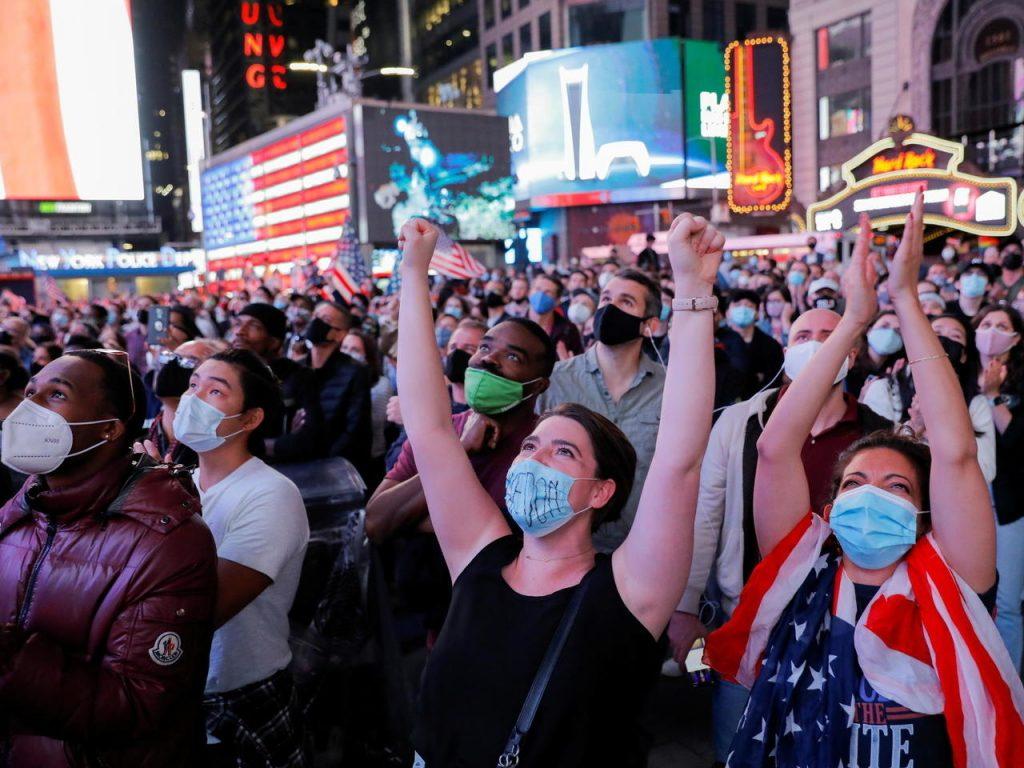 Biden Supporters Celebrate