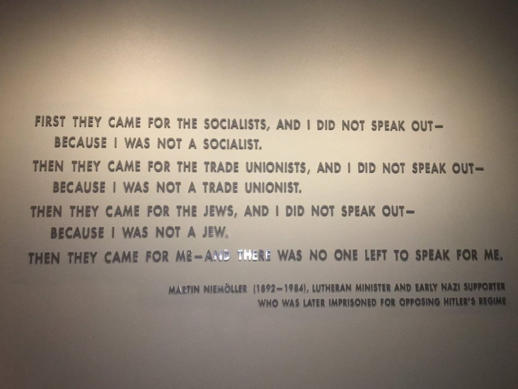 First They Came For Quote Martin Niemoller