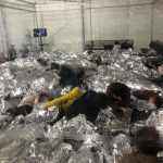 Overcrowded Migrant Detention Facility US Mexico Border